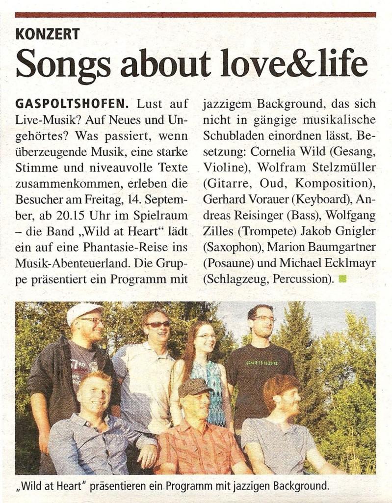 Zeitungsbericht Gaspoltshofen